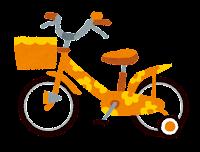 子供用の自転車のイラスト「オレンジ」