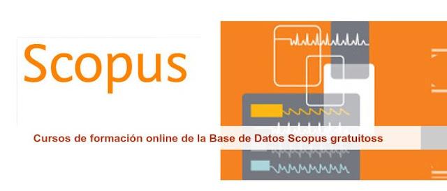 Cursos de formación online de la Base de Datos Scopus gratuitos.
