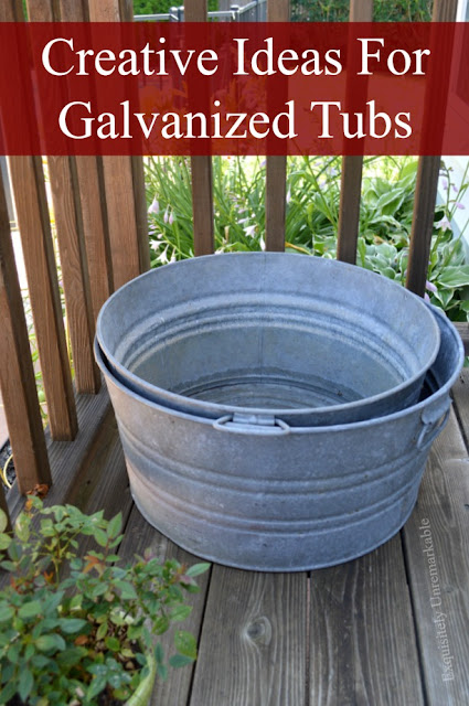 Creative Ways To Use Galvanized Tubs
