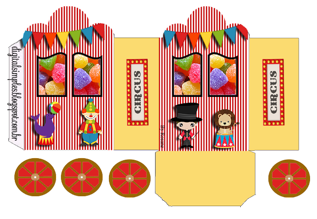 The Circus: Princess Carriage Shaped Free Printable Boxes.