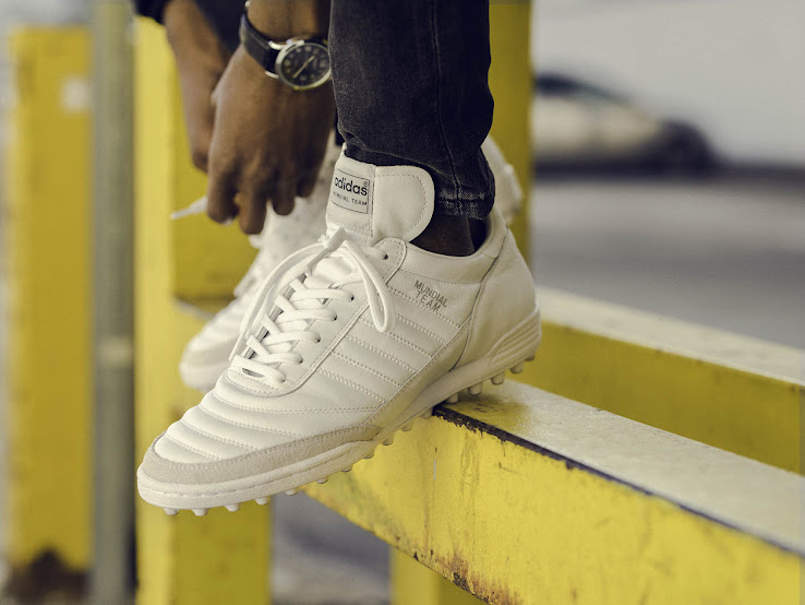 best sneakers 6c74e 16b5f The new yellow Adidas Copa Cobra boot comes with black Three Stripes that  feature a subtle snakeskin pattern, a white midsole and a gum outsole.