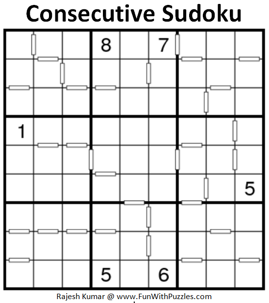 Consecutive Sudoku (Daily Sudoku League #162)
