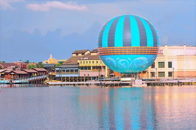 Romantic Ride on Hot Air Baloon at Disney World
