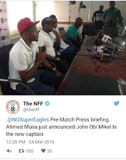 Mikel Obi Emerges As New Super Eagles Captain