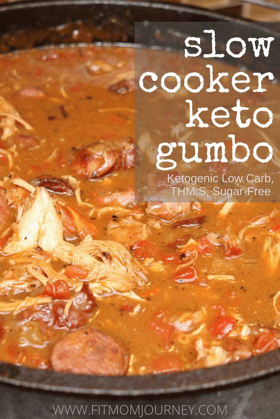 Slow Cooker Keto Gumbo