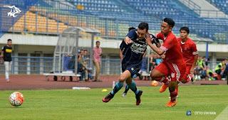 Persib Menang 7-0 atas Persika Karawang di Laga Uji Coba