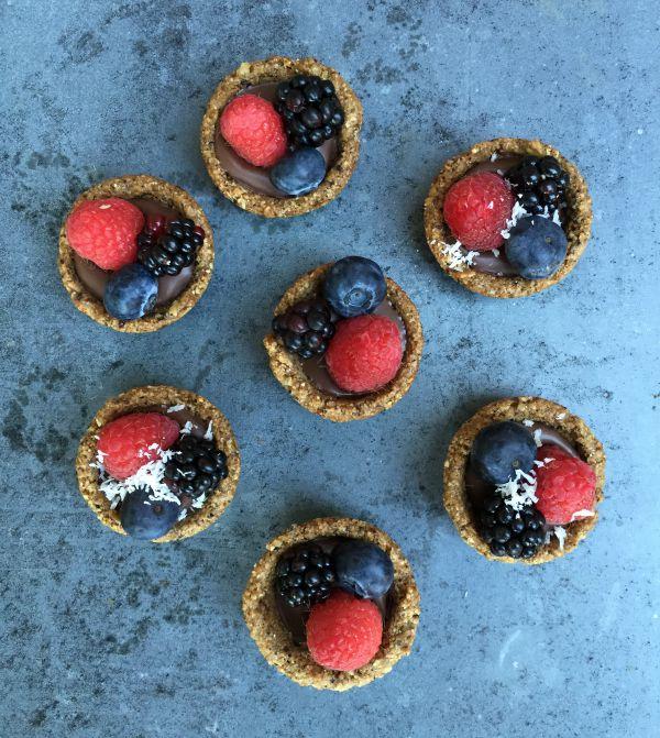 Granola Dark Chocolate Fruit Tarts