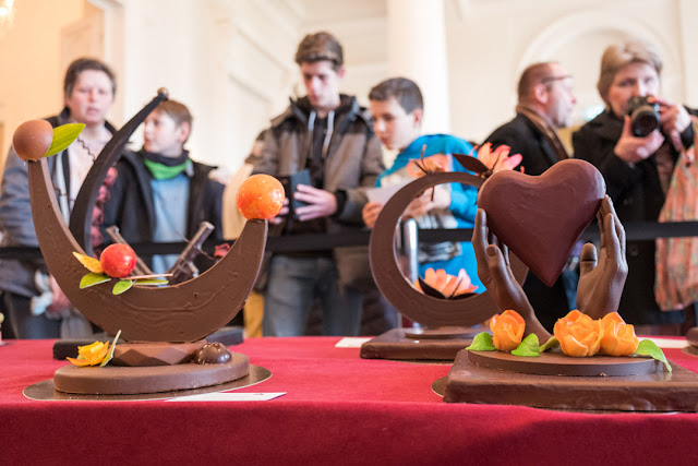 """Beim """"Championnat du Chocolat à Coblence"""" können Besucher den Profis bei ihrer schokoladigen Arbeit über die Schulter schauen."""