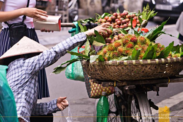 Hanoi Food Trip Fruit Vendor