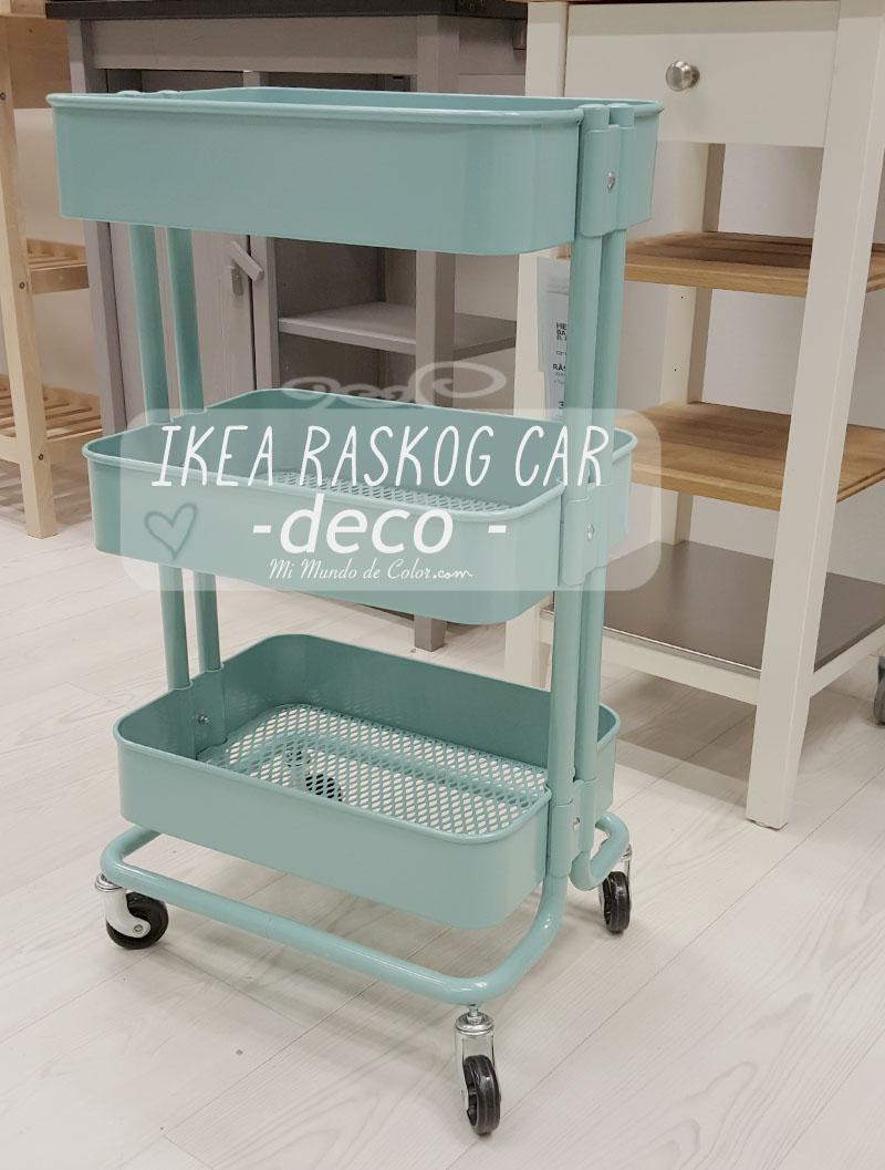 INSPIRACION | DECORAR CON EL CARRITO RASKOG DE IKEA