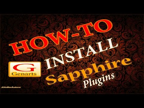 How to get Genarts Sapphire plugin After Effects CC/CS for