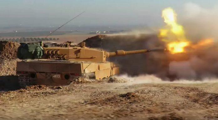 Κούρδοι ανατινάζουν τουρκικό Leopard (βίντεο)