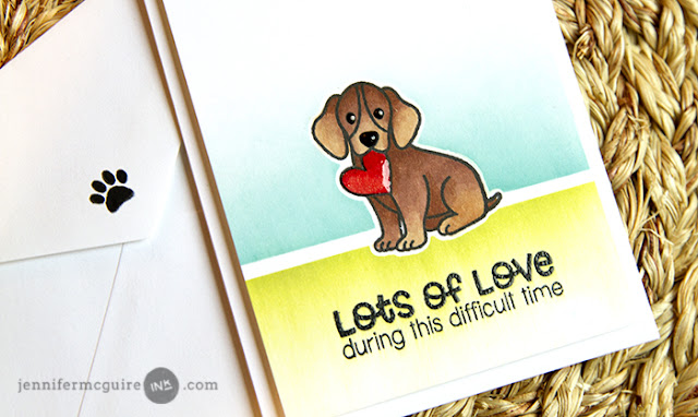 Sunny Studio Stamps: Pet Sympathy Lots of Love Puppy Dog Card by Jennifer McGuire
