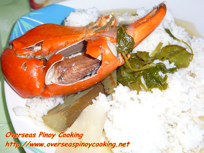 Crab Sinigang with Rice
