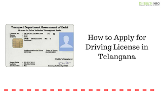 How to Apply for Driving License in Telangana