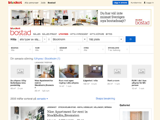 This is how you find a room or apartment to rent in Blocket - And succeed