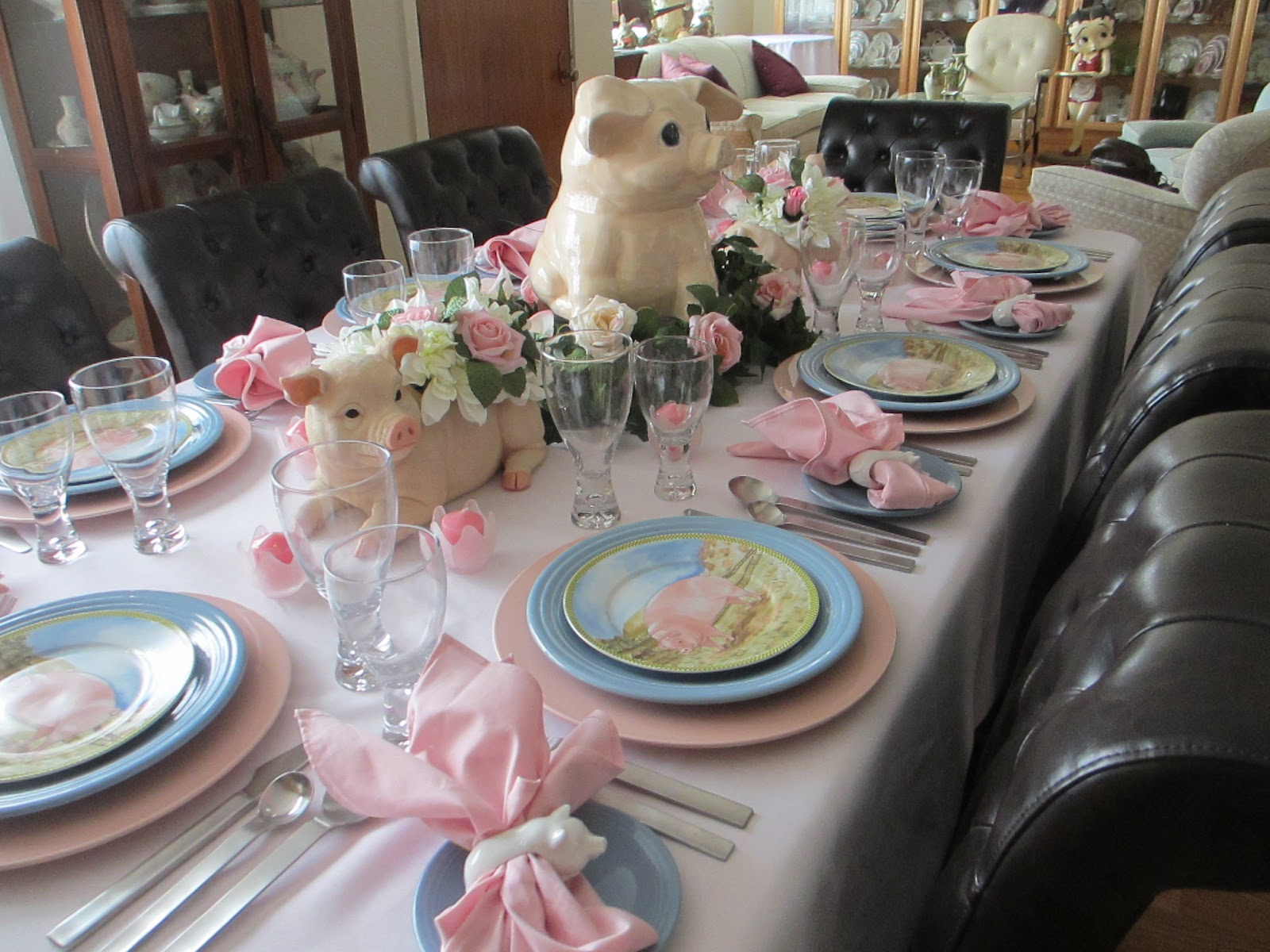 The Welcomed Guest Celebrating National Pig Day Tablescape