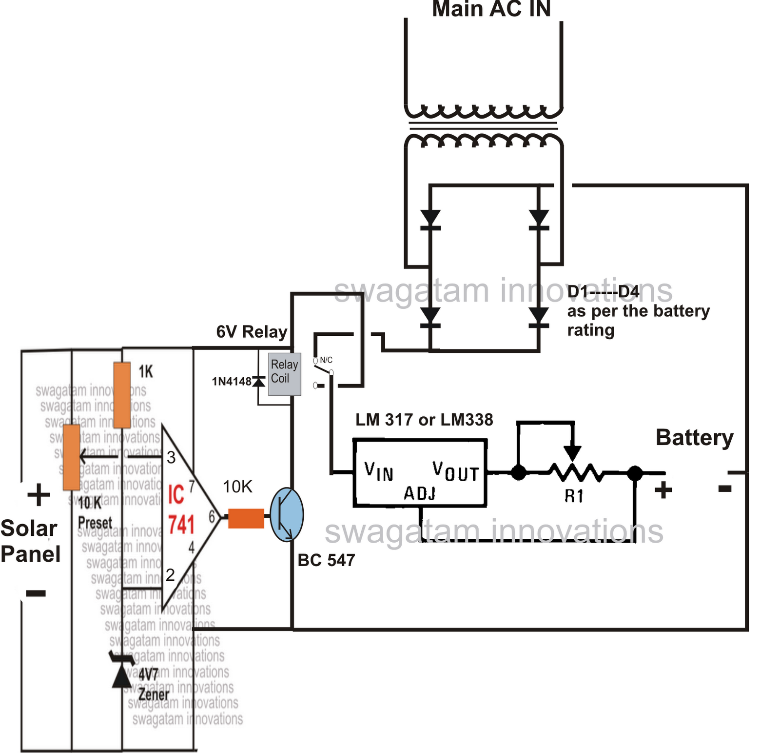 simple relay circuit diagram apollo rocket solar panel ac mains changeover