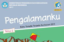 Buku Kurikulum 2013 SD/MI Kelas 1 Tema 5 Edisi Revisi 2017 Untuk Guru dan Siswa