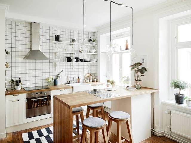 Anam Casa Diseño de Interiores: Ejemplos Para Cocinas Pequeñas