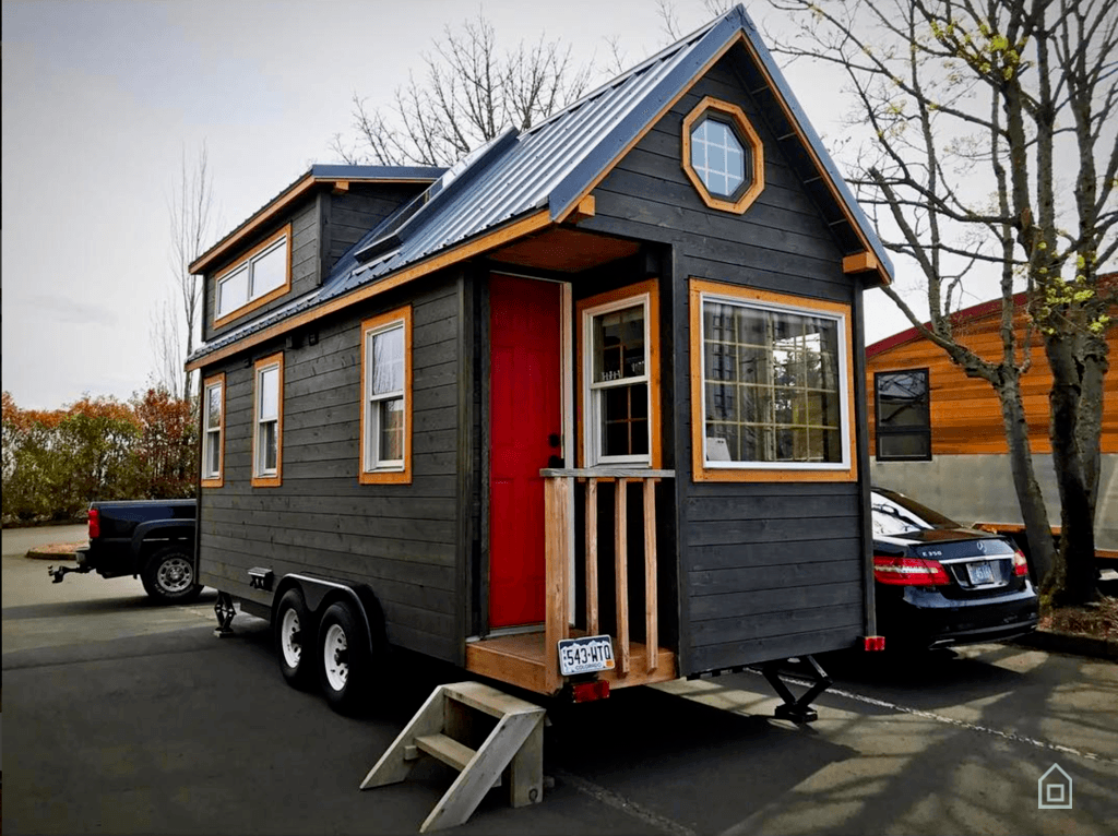 Tiny house town the micro mansion 200 sq ft for Tiny house mansion