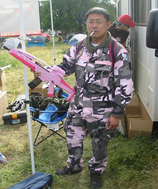 Hello Kitty Commando games including full pink camo and pink air gun. Hello Kitty Shaming. marchmatron.com