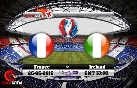 مشاهدة مباراة فرنسا وإيرلندا اليوم 26-6-2016 بي أن ماكس يورو 2016