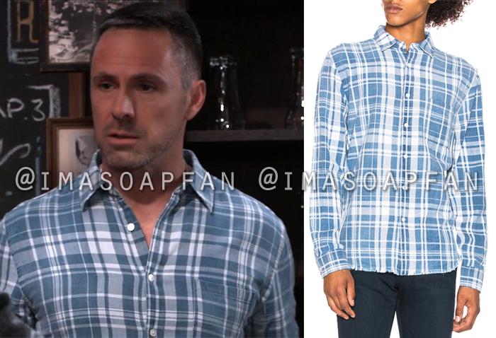 Julian Jerome, William deVry, Blue and White Plaid Shirt, General Hospital, GH