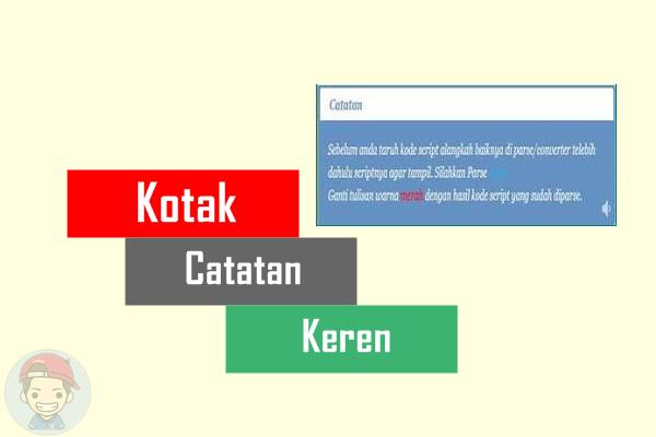 Membuat Kotak Catatan Keren Di Blog