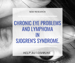 chronic eye problems and lymphoma in Sjogren's Syndrome.