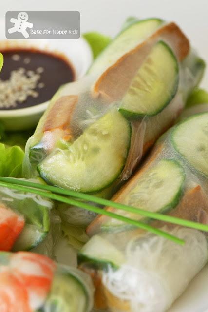 Vietnamese vegetarian rice paper rolls