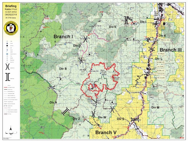 Idaho Fire Information Rabbit Foot Fire Update August 20th