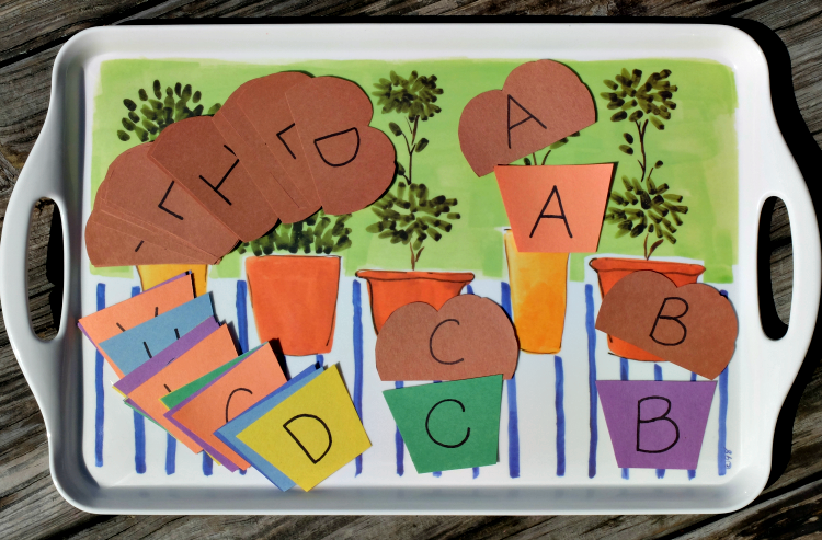 Muffin Alphabet Matching game