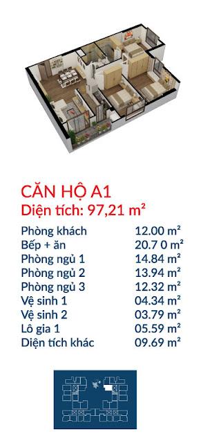 Căn hộ A1 Việt Đức Complex