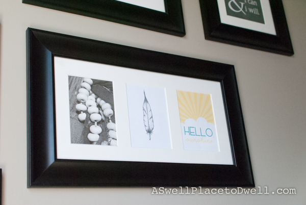 gallery wall with printables
