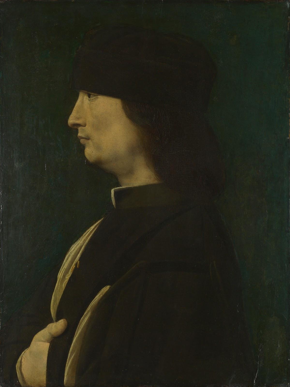 Джованни Антонио Олтраффио Портрет мужчины в профиль