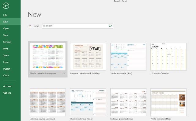 Tải bộ lịch 2018 tuyệt đẹp cho Excel