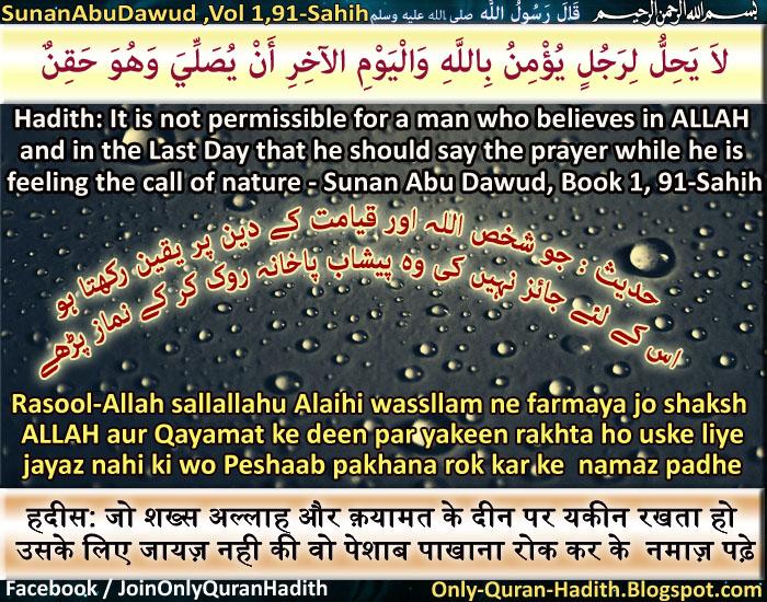 Only-Quran-Hadith ( Designed Quran and Hadith ): Mafhum-e-Hadith