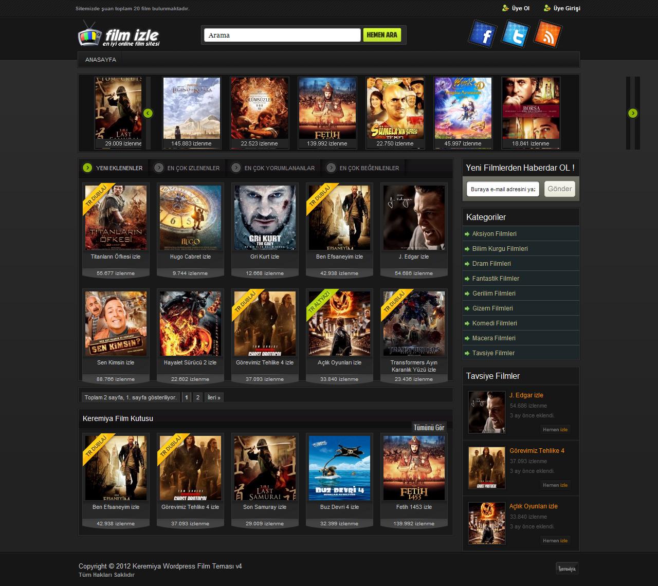 thiết kế web xem phim đẹp