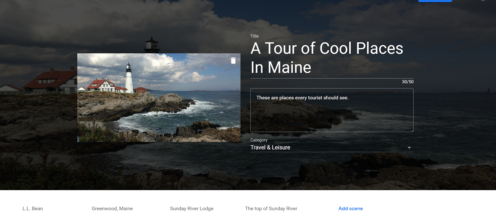 0027254e819e A few hours ago Google announced the launch of their new VR Tour Creator.  This free tool lets everyone create their own virtual tours to view in  Google ...