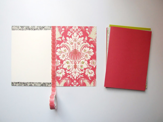 How to Make Your Own Notebook using washi tape and envelopes - Gathering Beauty