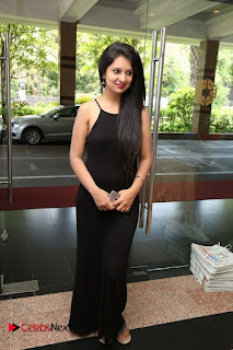 Actress Nikita Bisht Pictures in Black Long Dress at Akritti Elite Exhibition Launch  0075