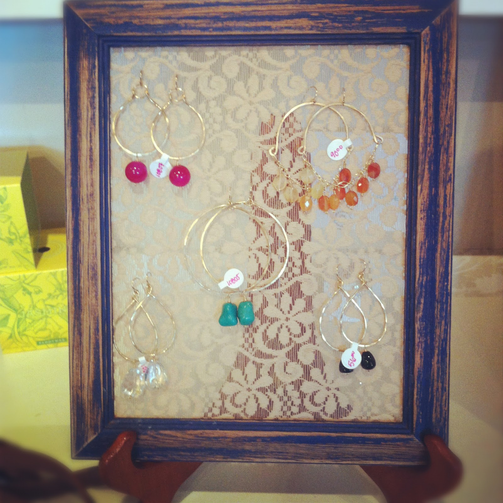 DIY: Recycled Frame Earring Rack | ROSERAGS