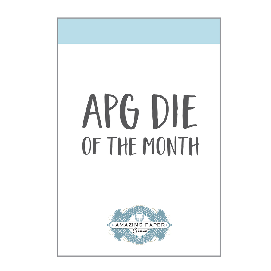 Social media influencer for Spellbinders Amazing Paper Grace die of the month
