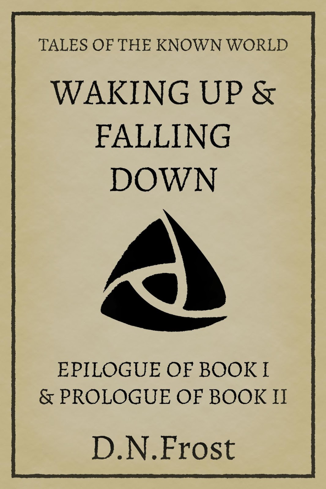 Waking Up & Falling Down is a two-part novella, epilogue to Book One and prologue to Book Two of the Chronicles of Mother's Gate series. http://www.DNFrost.com/Bookend2 #TotKW
