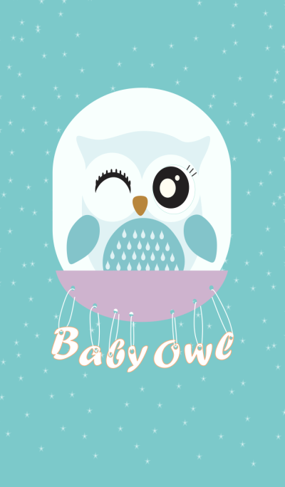 Simple Happy Baby Owl
