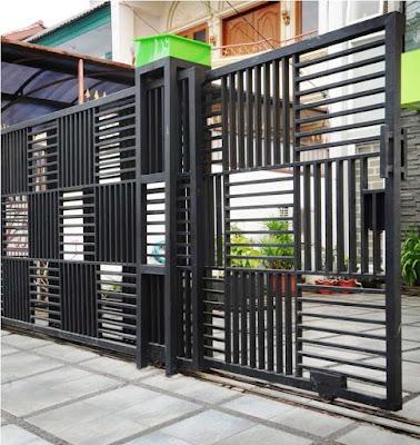 model pagar besi rumah minimalis sederhana