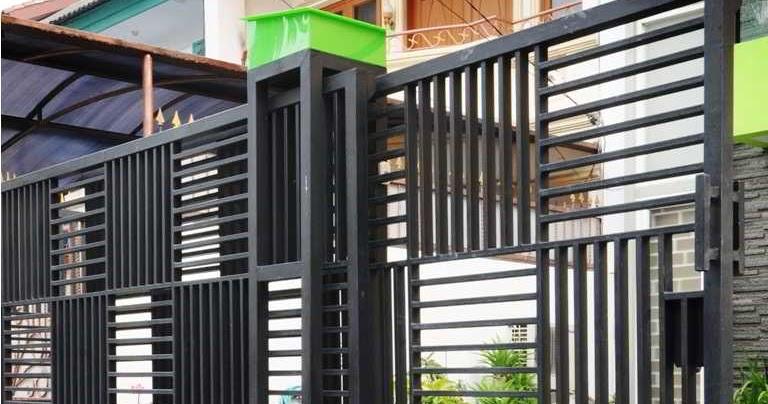 Galeri Pagar Rumah Mewah  konsep terkini 29 model pagar besi minimalis
