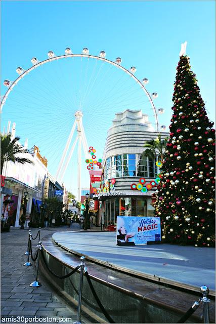 Navidad en Las Vegas 2017: Árbol en The Linq Promenade y la High Roller