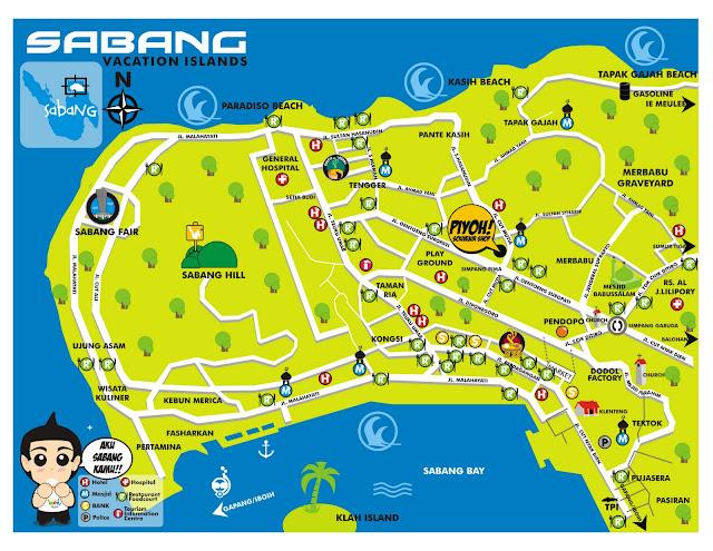 Peta Pariwisata Kota Sabang